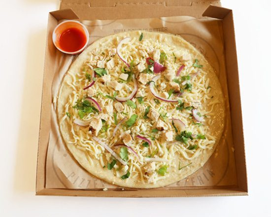 Whether you're in the mood for spicy or sweet and tangy, the Fire Grilled Chicken is here for you. Made with All-Natural Cage-Free Chicken, Gorgonzola, Red Onion, Fresh Cilantro on top of your desired Premium Crust - all topped off with a BBQ Afterbake. This pizza is a fan favorite previously known as the Fire Grilled Chicken Pizza with Firey Buffalo.