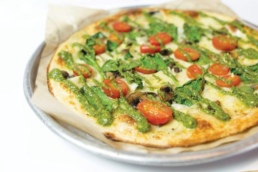 Veggie Pesto Pizza (Vegetarian Friendly)